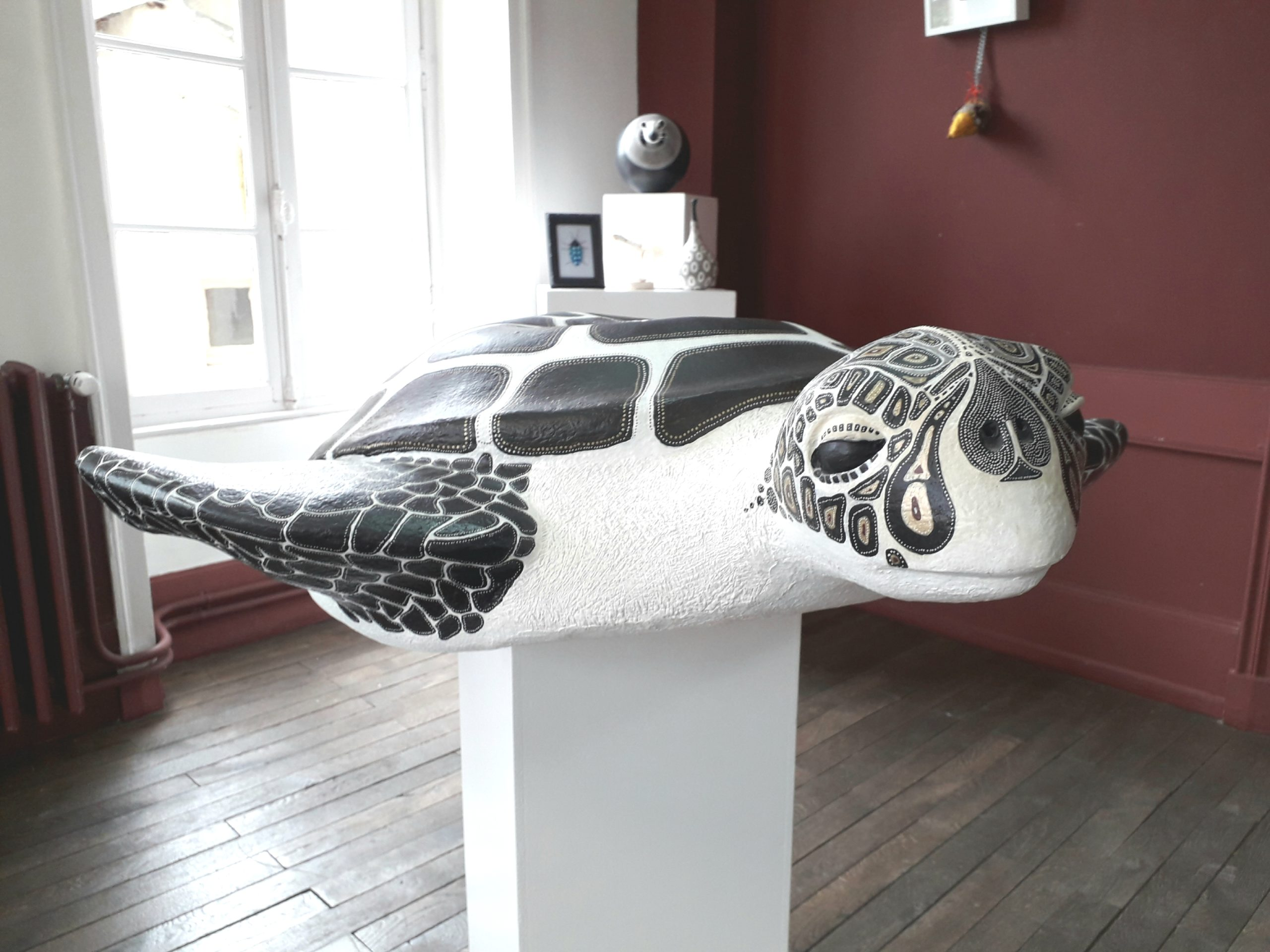 Valérie Jouandon, sculptures en papier mâché